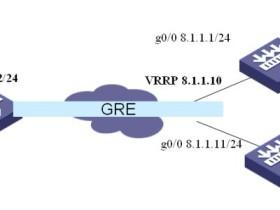 H3C防火墙使用VRRP虚地址建立GRE典型配置